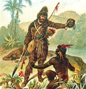 a look at friday in robinson crusoe Robinson crusoe quotes from litcharts in this manner i used to look i had but three subjects, and they were of three different religions - my man friday.